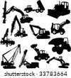 construction machines - vector - stock photo