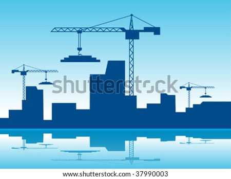 Construction of the city - stock vector
