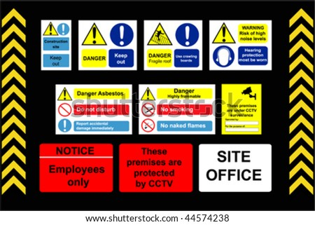 Construction Signs building site  - stock vector