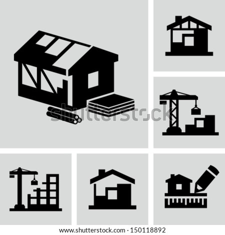 Construction site - stock vector