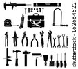 Construction tool collection  - stock vector