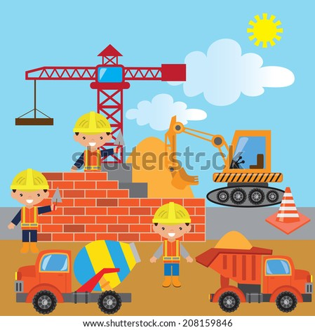 Concrete mixer stock photos illustrations and vector art