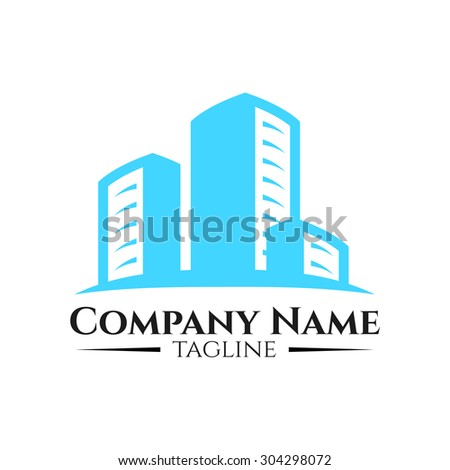 Construction vector logo design template .Creative business symbol. Building abstract icon. Corporate sign. - stock vector