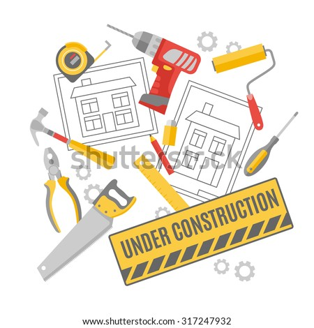 carpenter tools name. construction worker building project technical drawing carpentry tools and accessories decorative pictograms composition poster abstract vector carpenter name n