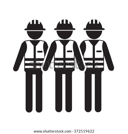 Construction Worker People Icon Illustration design - stock vector