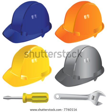 construction workers hard hat vector 2 - stock vector