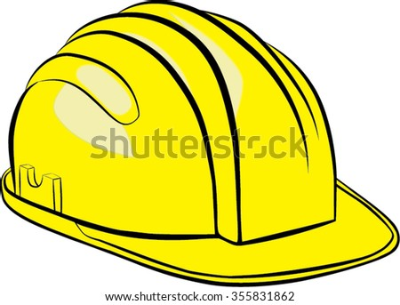 constructions hat isolated illustration - stock vector