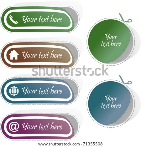 Contact element set for design. Vector illustration. - stock vector