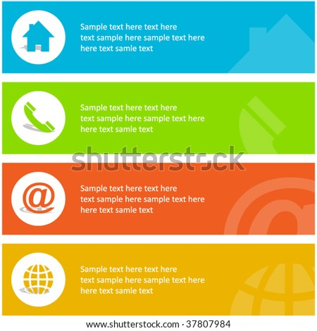 Contact elements for design. - stock vector