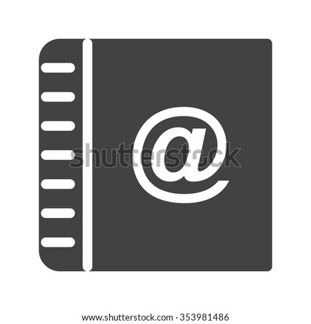 Contact, online, internet icon vector image. Can also be used for IT and communication. Suitable for web apps, mobile apps and print media.