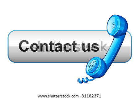 contact us icon - stock vector