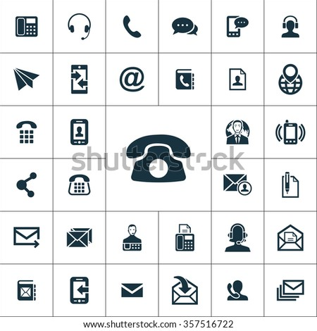 Contact Us Icons Vector Set Stock Vector 357516722 Shutterstock
