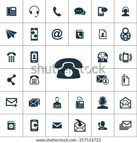 Contact Us Icons Vector Set Stock Vector Hd Royalty Free 357516722