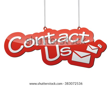 contact us, red vector contact us, background contact us, illustration contact us, tag contact us, element contact us, sign contact us, design contact us, icon contact, contact us eps10 - stock vector