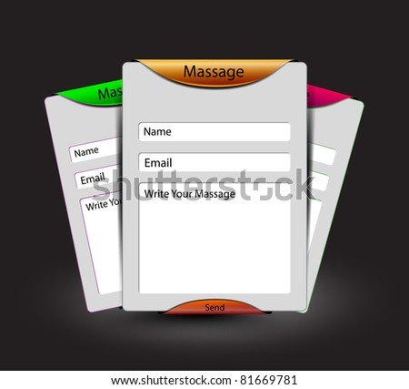 contact us web site layout  design template, - stock vector