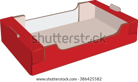 container for fruit - stock vector