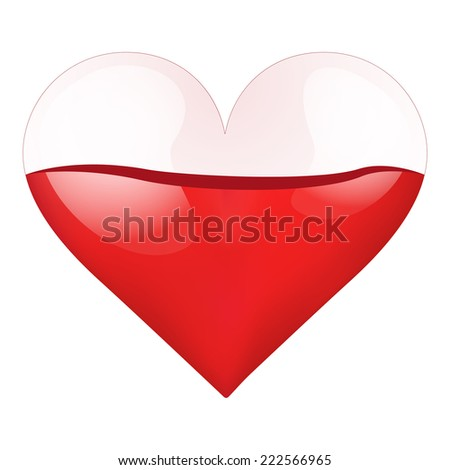 Container Heart Bloodfilled Health Vector Illustration Stock Vector