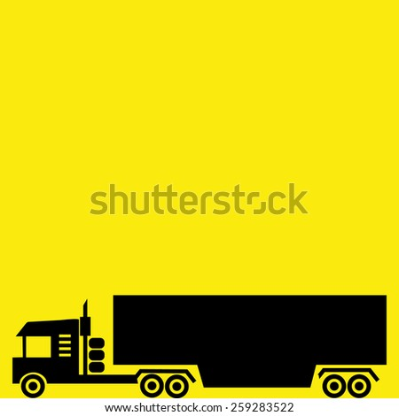 container truck trailer vector icon illustrations - stock vector