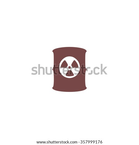 Container with radioactive waste. Colorful vector icon. Simple retro color modern illustration pictogram. Collection concept symbol for infographic project and logo - stock vector