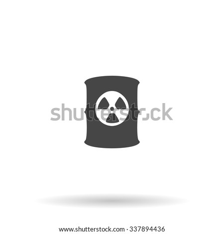 Container with radioactive waste. Icon Vector - stock vector