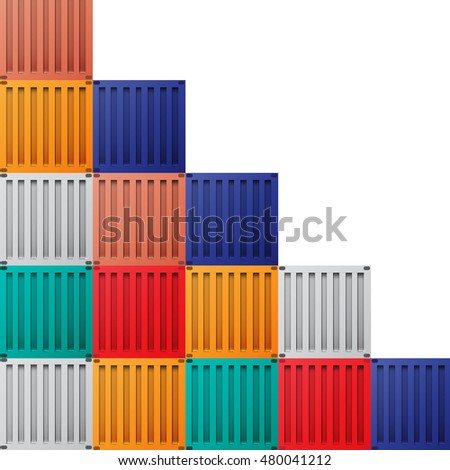 Containers shipping background