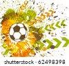 Contemporary Art. Football background - stock vector