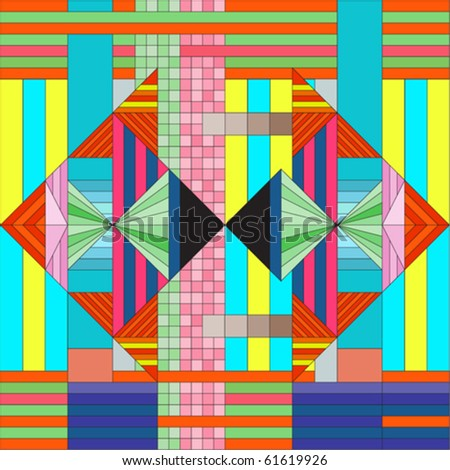 contemporary art wallpaper - stock vector