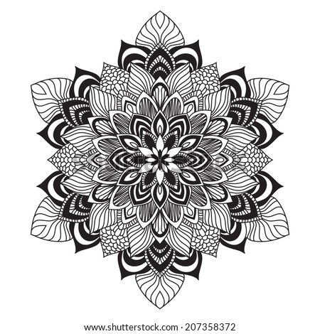 Contemporary celtic knot doily round lace floral pattern card, circle, mandala, amulet  - stock vector