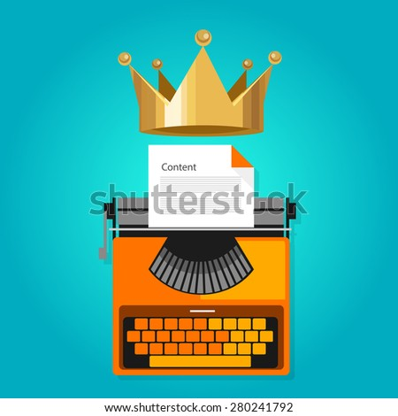 content is king seo web optimization icon vector - stock vector