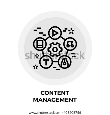 Content Management Icon Vector. Content Management Icon Flat. Content Management Icon Image. Content Management Line icon. Content Management Icon JPEG. Content Management Icon EPS. - stock vector