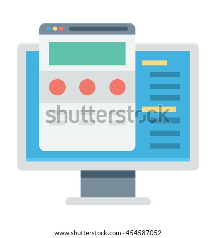 Content Writing Vector Icon