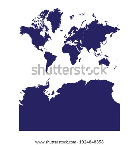 Continents antarctica russia split map blue stock vector 2018 continents with antarctica russia split map blue geometric rumpled triangular low poly style gradient graphic gumiabroncs Choice Image