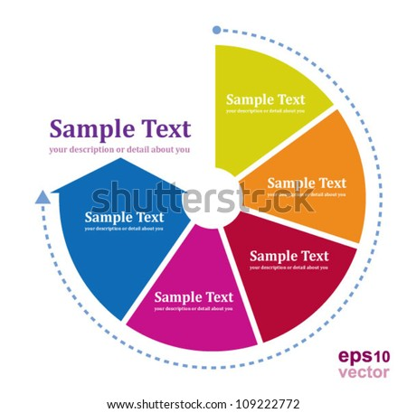 Continual circle arrow multicolor /  graph, infographic, business plan, education, can use for business concept, education diagram, brochure object. - stock vector