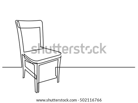 chair drawing. continuous line drawing of chair
