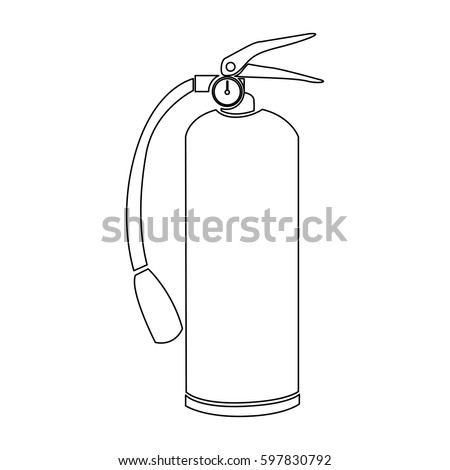 Coloring page outline gardening watering can stock vector for Fire extinguisher coloring page