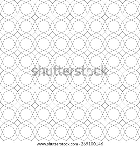 Contour geometric pattern - seamless vector background - stock vector