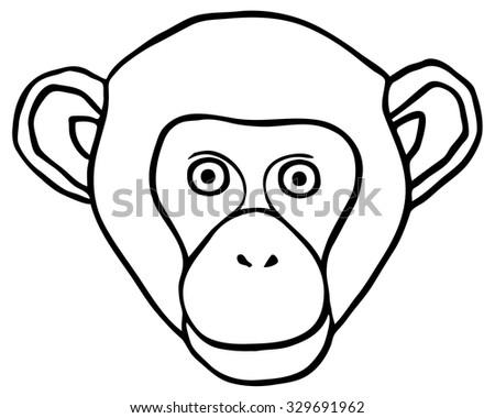 Contour Of A Head Monkey
