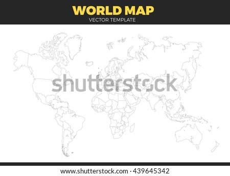 Color world map vector illustration empty vectores en stock contour world map design vector illustration empty all countries template without country names text gumiabroncs Image collections