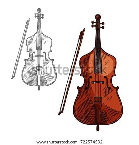 violin sketch stock images royaltyfree images amp vectors