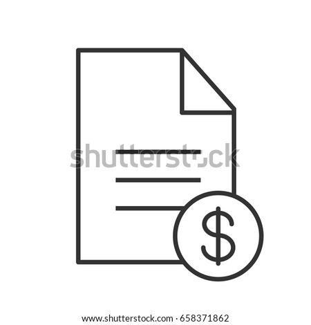 Contract Linear Icon Business Agreement Thin Stock Vector 658371862