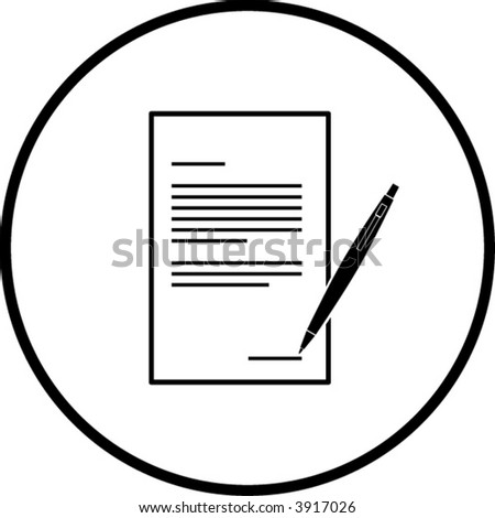 contract symbol - stock vector