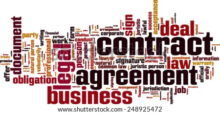 Contract word cloud concept. Vector illustration - stock vector