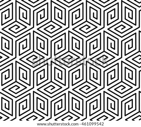 Contrast black and white seamless vector pattern.