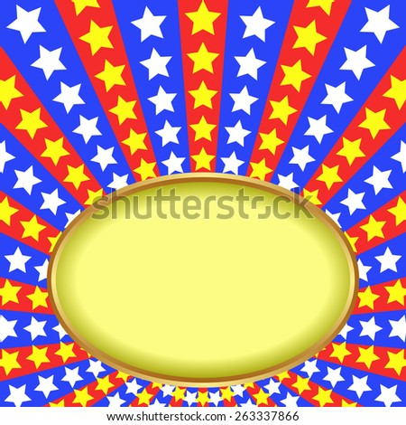 contrasting background with stars - stock vector