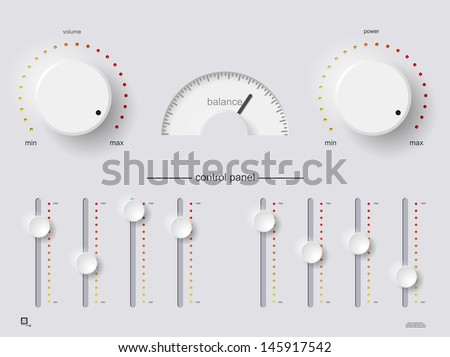 control panel - stock vector