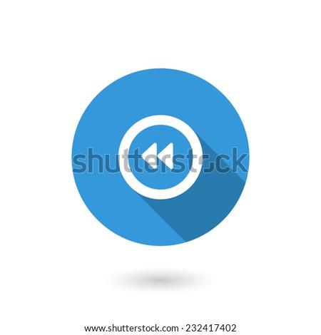 Control rewind icon - stock vector