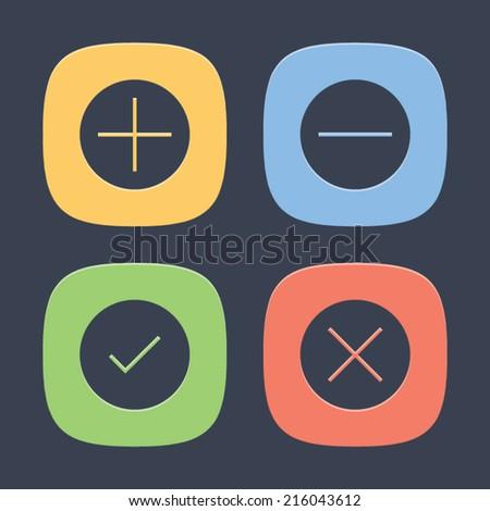 Control Set of Icons. Vector symbol pictogram icon design. Simple flat metro style. Save for esp10 - stock vector