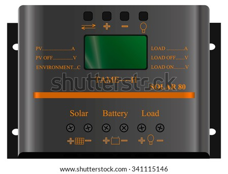 controller for solar panels and alternative energy - stock vector