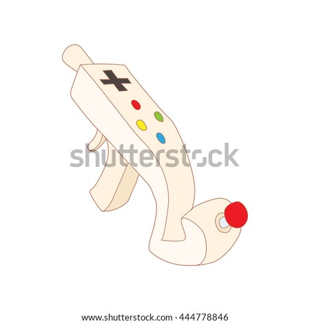 Controller for video games icon in cartoon style isolated on white background. Games and consoles symbol - stock vector