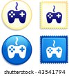 Controller Stamp and Button Original Vector Illustration Buttons Collection - stock vector